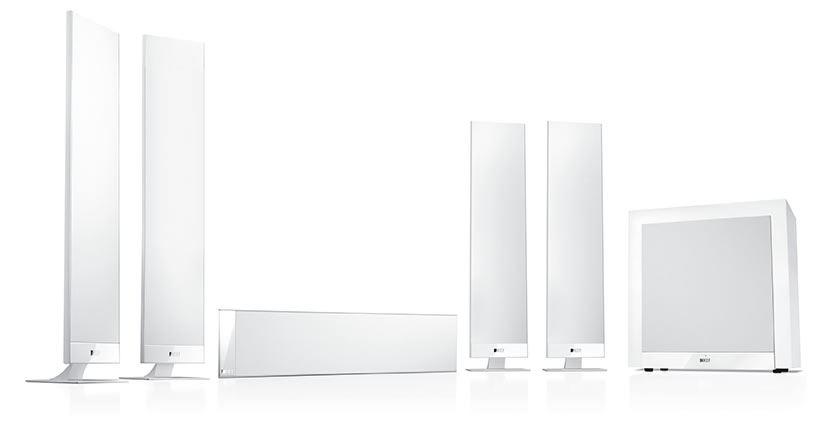 Kef T305 5 1 Home Theatre Speaker Package White Awe Europe